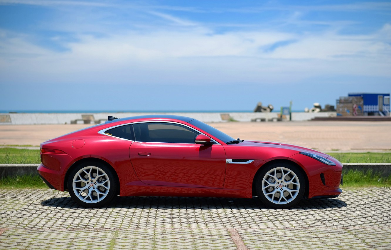 Photo wallpaper red, design, style, Jaguar, Jaguar, side view