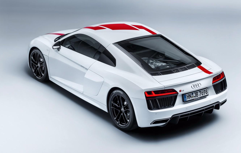 Photo wallpaper supercar, Audi R8, rear view, 2018, V10, RWS