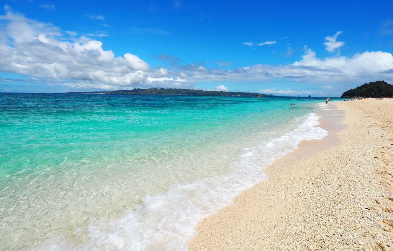 Photo wallpaper sea, wave, tropics, Nature, blue water