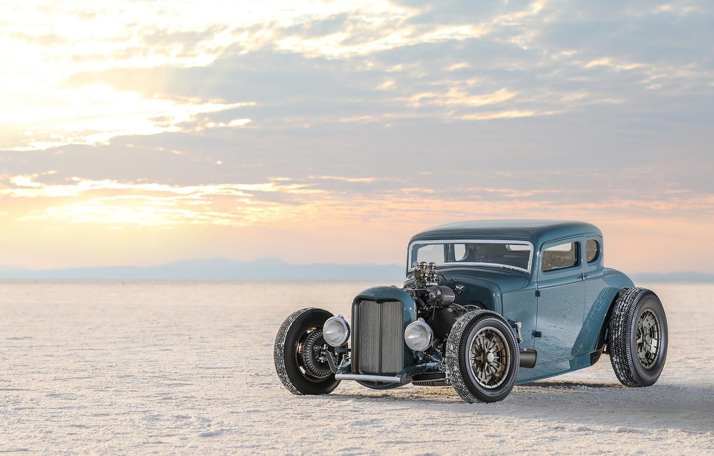 Photo wallpaper car, Roadster, Ford, desert, nature