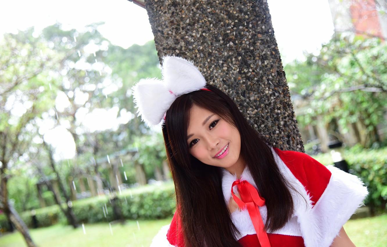Photo wallpaper look, face, smile, model, costume
