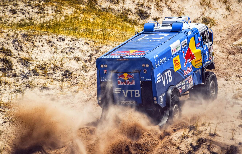 Photo wallpaper Sport, Speed, Truck, Race, Master, Russia, Kamaz, Rally, Dakar, KAMAZ-master, Dakar, Rally, KAMAZ, 507, The …