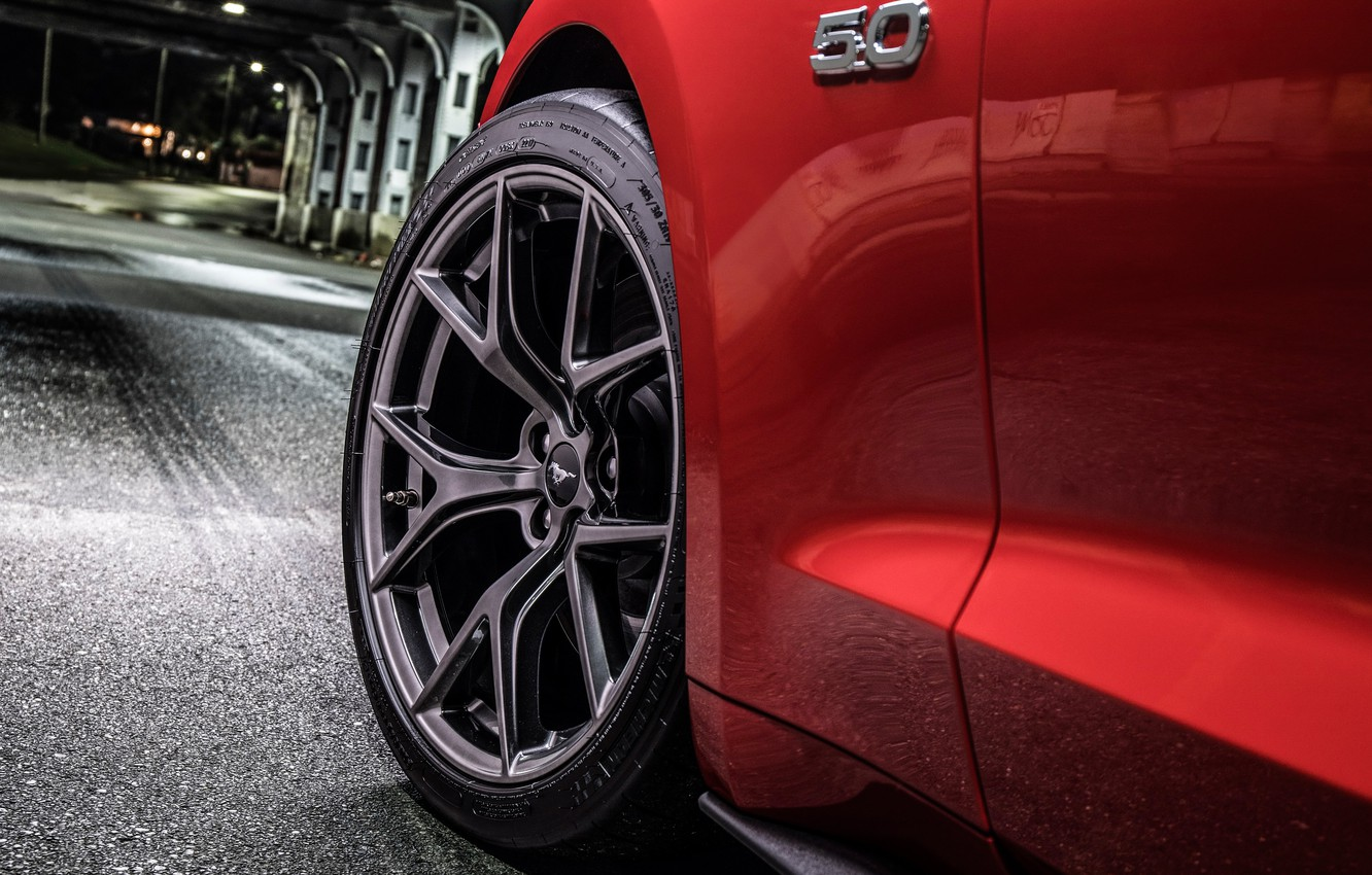 Photo wallpaper Ford, wheel, 2018, Mustang GT, Level 2 Performance Pack