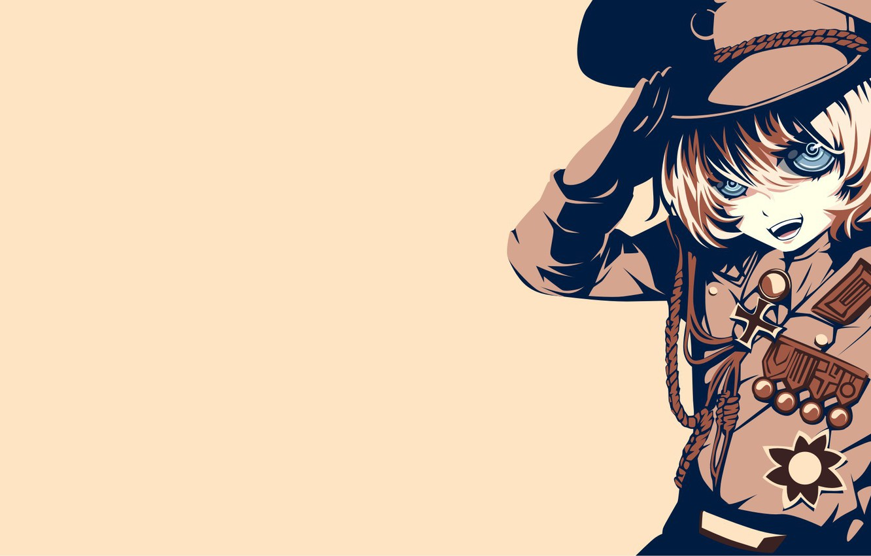 Photo wallpaper girl, soldier, military, war, anime, blonde, asian, manga, oriental, asiatic, powerful, strong, uniform, seifuku, medal, …