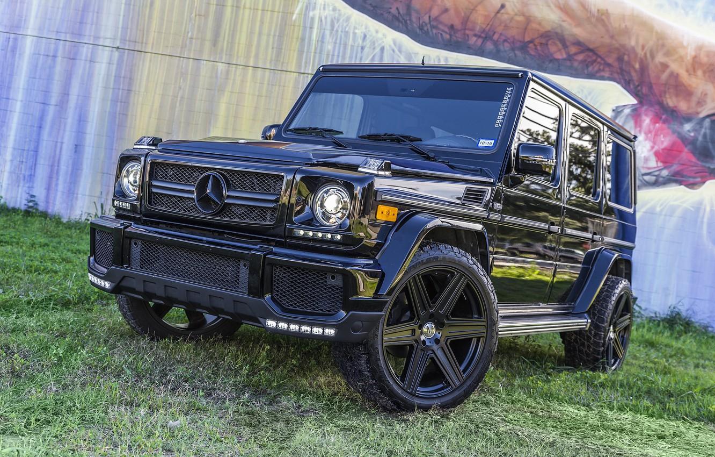 Photo wallpaper Mercedes, AMG, Black, G63, Graphity, W463