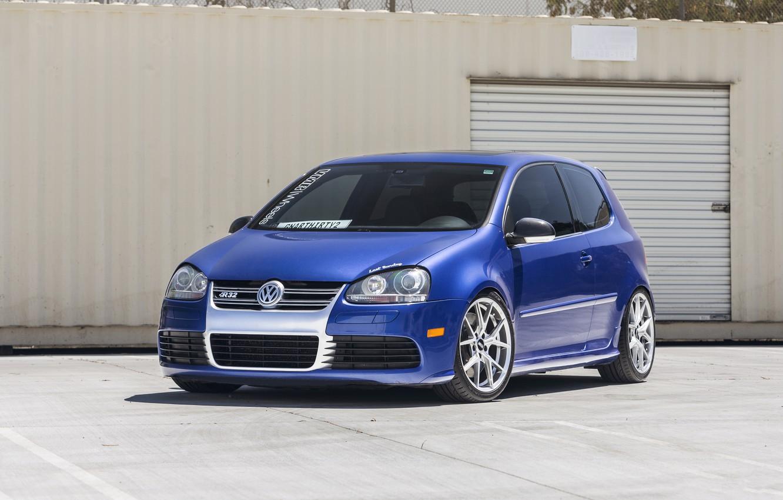 Photo wallpaper Volkswagen, Blue, R32, Golf, Pearl, MK5, Deep