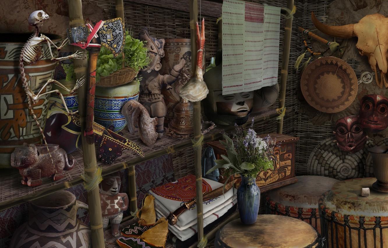 Photo wallpaper games illustration, HOPA, ticathrow headogun, wigwam Ho