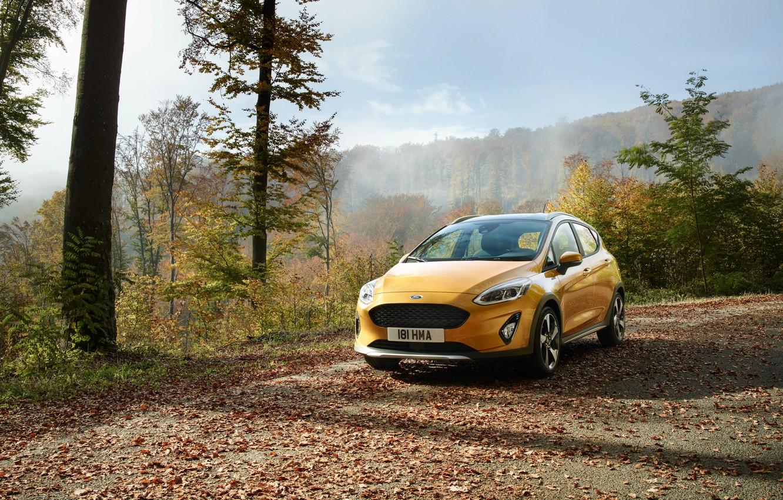 Photo wallpaper Ford, Yellow, Car, Fiesta, Active, 2017, Worldwide