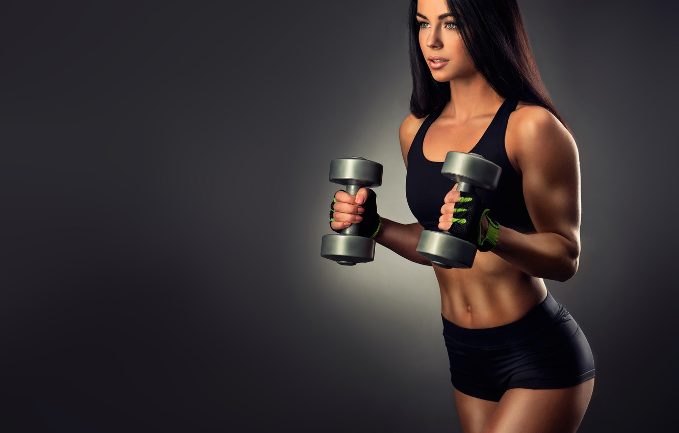 Photo wallpaper female, workout, fitness