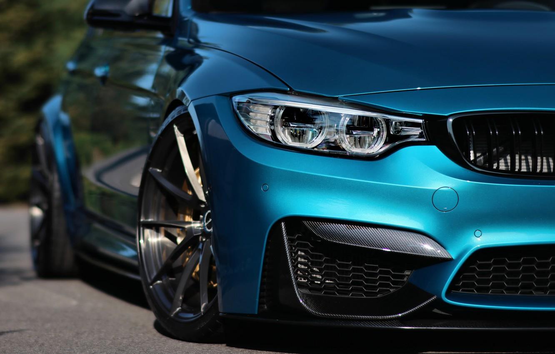 Photo wallpaper BMW, Blue, Eye, F80, Sight, LED