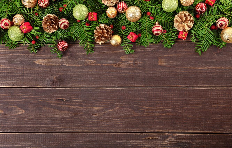 Photo wallpaper New Year, Christmas, wood, merry christmas, decoration, xmas, fir tree