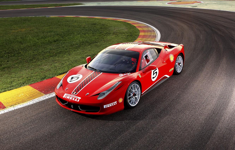 Photo wallpaper Ferrari, supercar, Ferrari, 458, Challenge