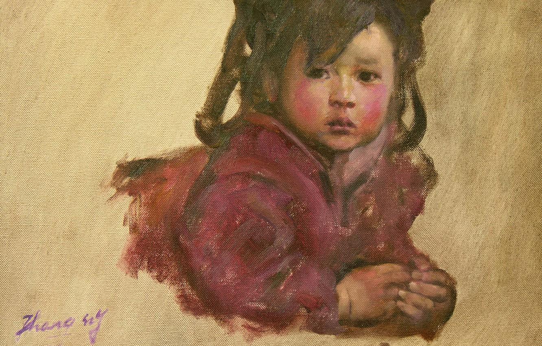 Photo wallpaper girl, Chinese, HongNian Zhang, 5littleprincess