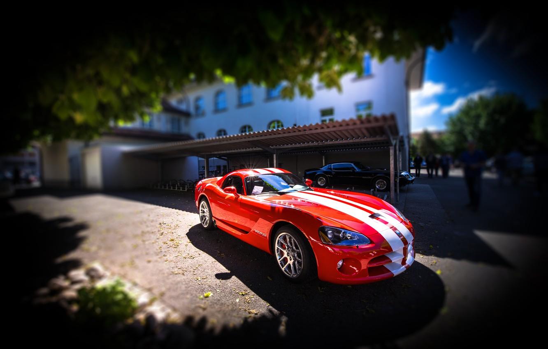 Photo wallpaper red, Dodge, Viper, Dodge Viper SRT-10, SRT-10