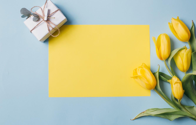 Photo wallpaper flowers, gift, Spring, Tulips, Background, flowers, Spring, Background, Tulips