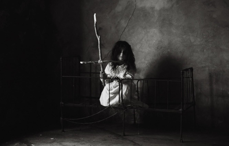 Photo wallpaper room, girl, angel of death