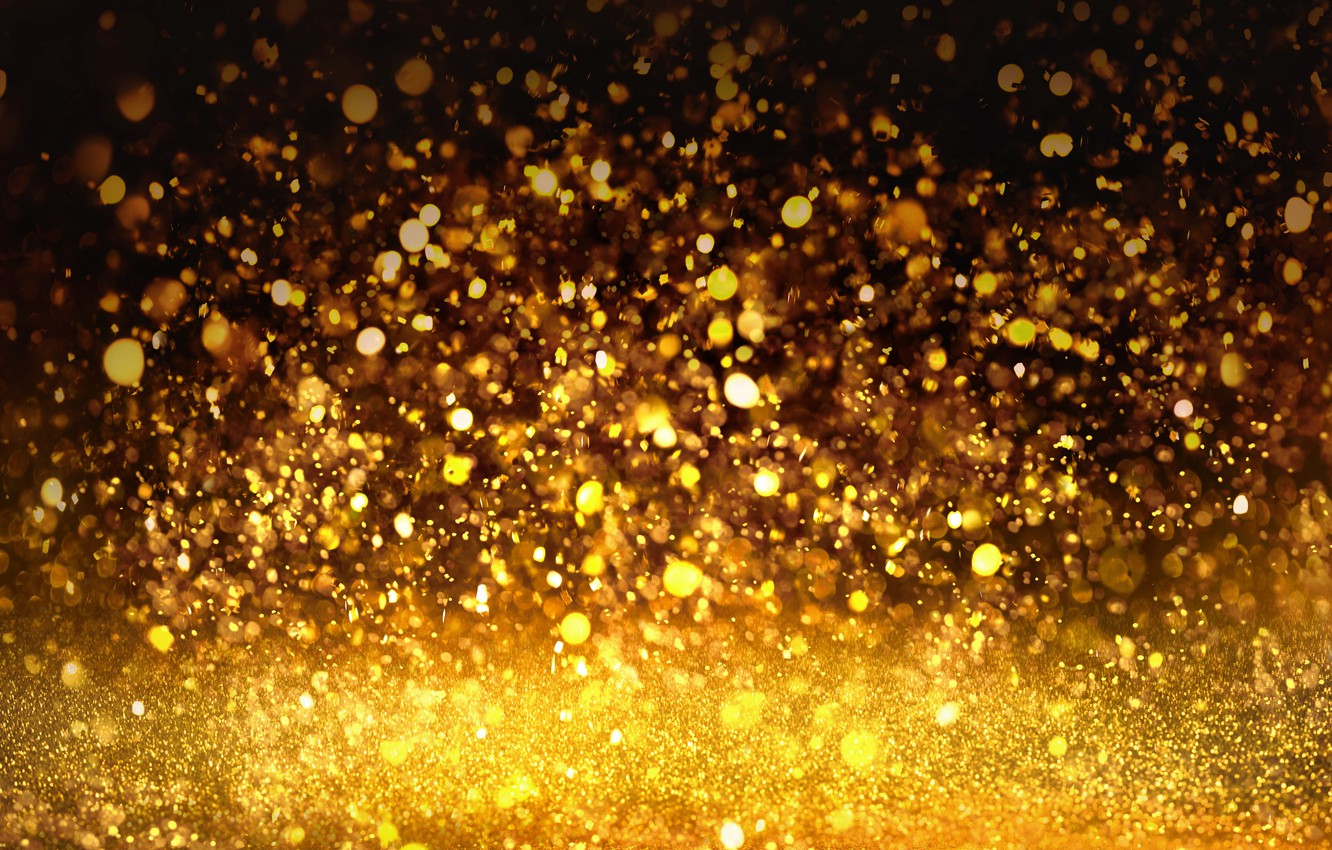 Photo wallpaper background, sequins, golden, gold, texture, bokeh, bokeh, shine, glitter