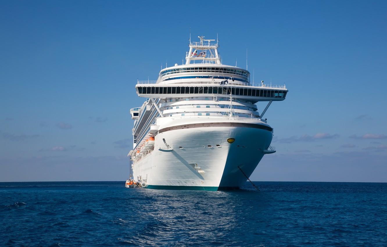 Photo wallpaper sea, ship, cruise liner