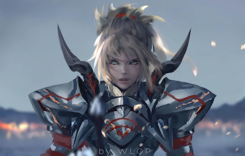 Photo wallpaper anime, art, fate/grand order, fate/apocrypha