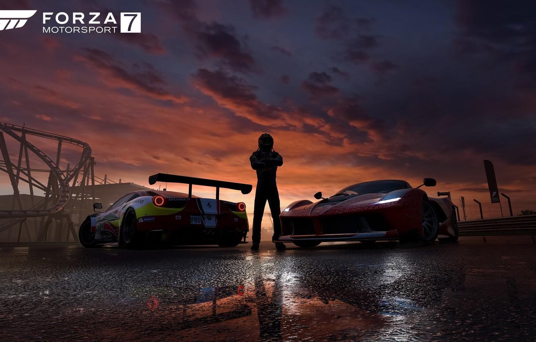 Photo wallpaper car, game, cars, race, speed, pilot, Forza Motorsport, Forza Motorsport 7