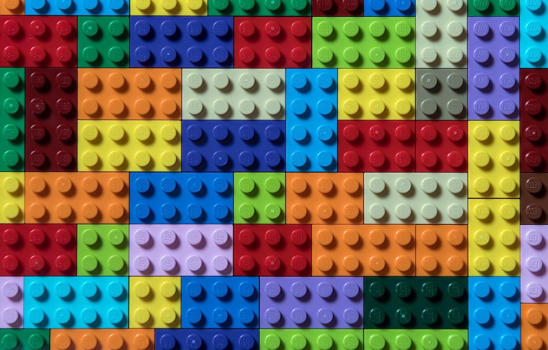 Photo wallpaper cubes, color, form, lego