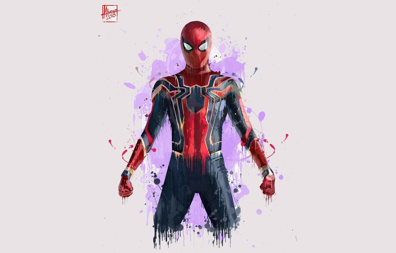 Photo wallpaper Figure, Costume, Actor, Hero, Movie, Mask, Superhero, Hero, The film, Fiction, Marvel, Spider-man, Comics, Spider-Man, …
