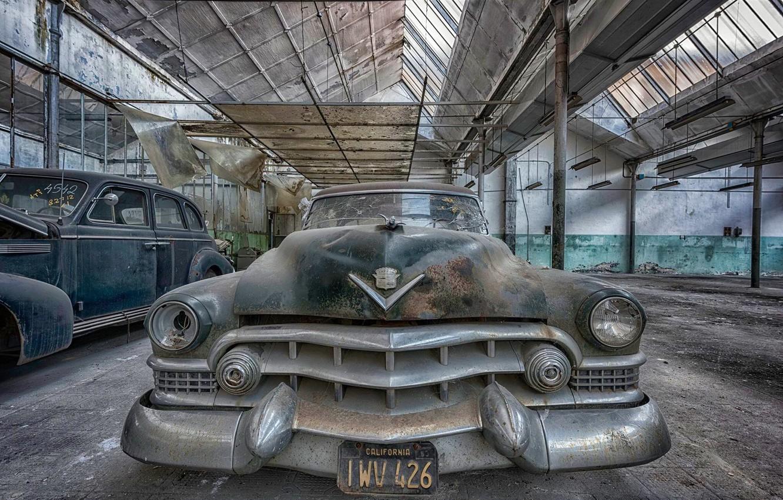 Photo wallpaper machine, scrap, Cadillac Ranch