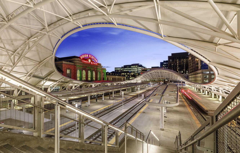 Photo wallpaper station, Colorado, architecture, Denver, Colorado, Denver, union station