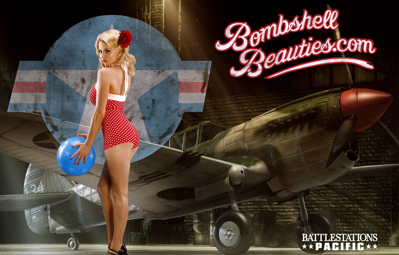 Photo wallpaper P-40, The Second World, Pin-Up