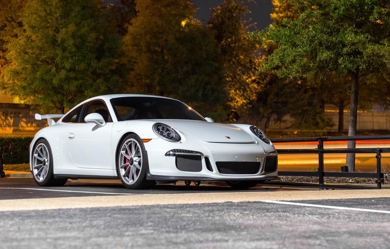 Photo wallpaper Porsche, GT3, Night, White, 991