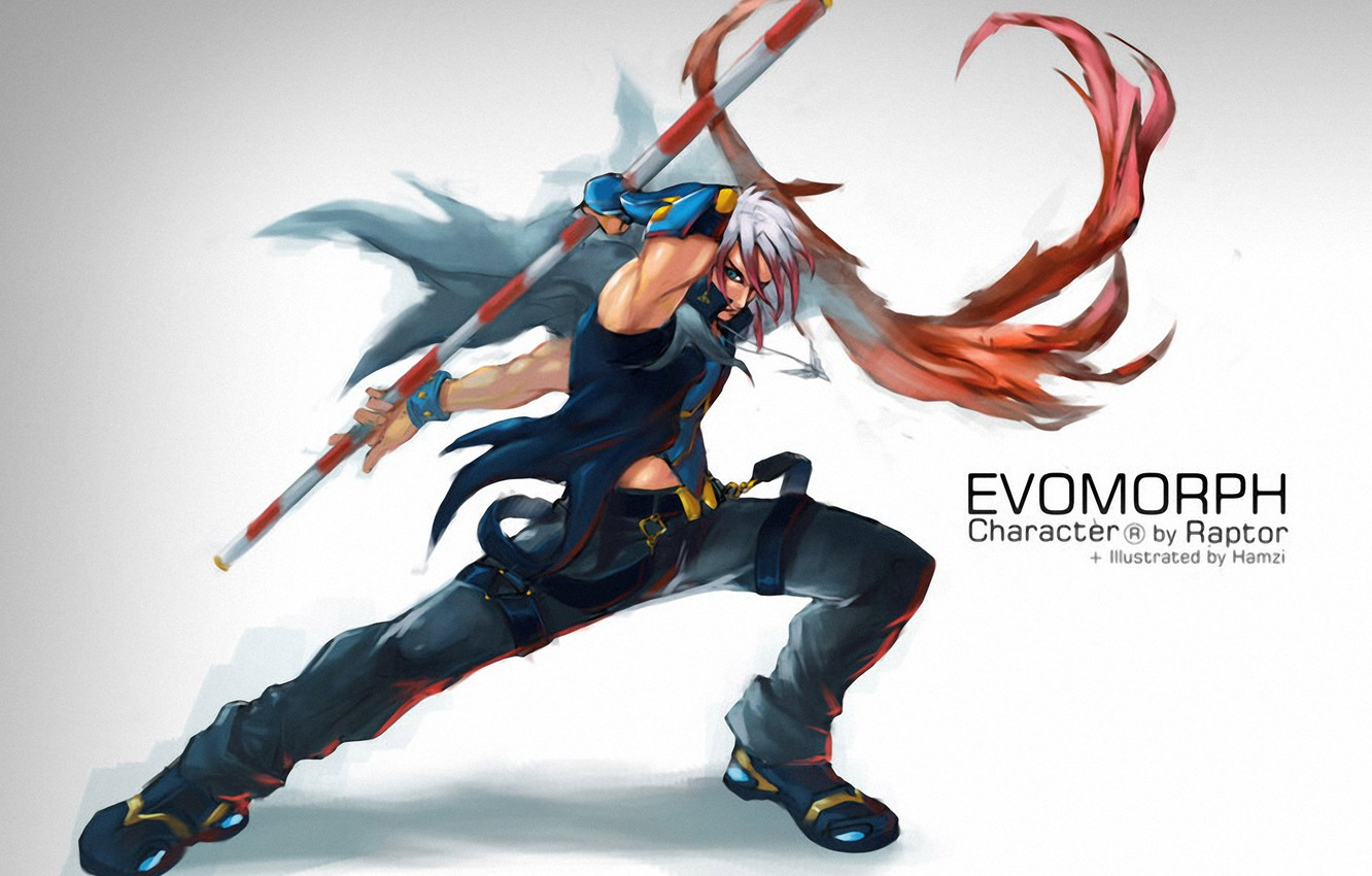 Photo wallpaper warrior, staff, Commission, Evomorph by bayanghitam, Faid Hamzi