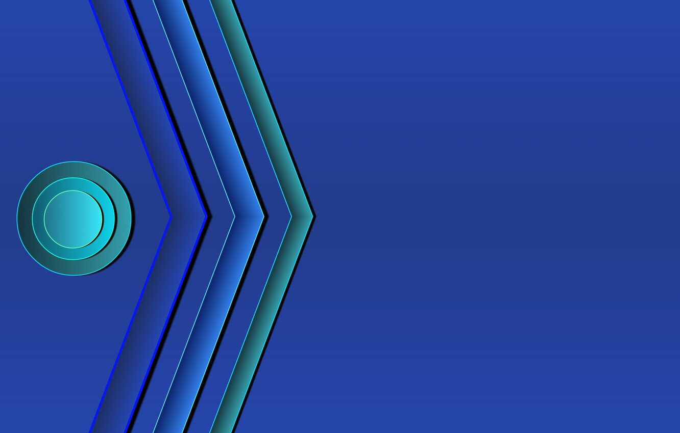 Photo wallpaper circles, blue, strip, background, colored