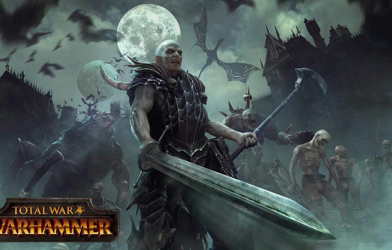 Photo wallpaper dragon, Total War, monster, The Vampire Counts, WARHAMMER