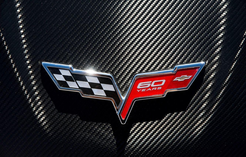 Photo wallpaper logo, emblem, Chevrolet Corvette