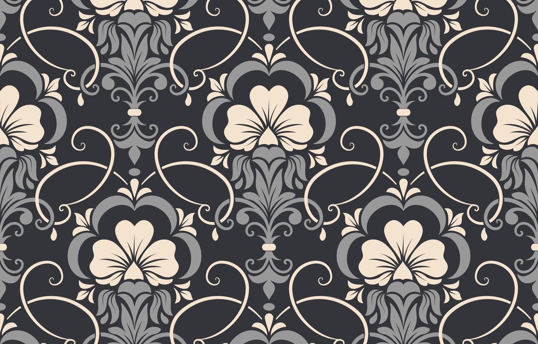 Photo wallpaper flowers, background, pattern, vector, texture, texture, background, pattern, seamless, damask