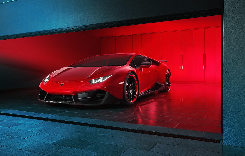 Photo wallpaper Lamborghini, Red, Supercar, Novitec Torado, Huracan