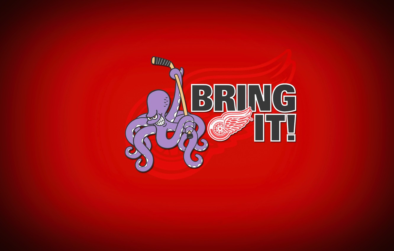 Wallpaper The Game Sport Background Octopus Detroit Nhl Nhl