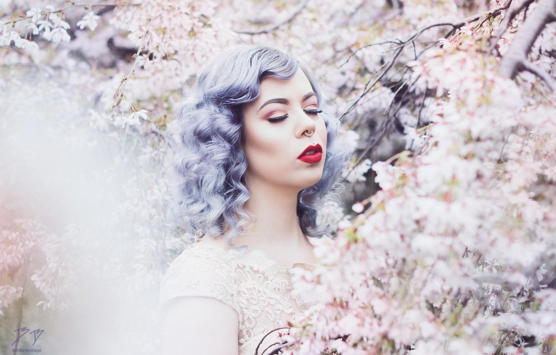Photo wallpaper style, background, model, hair, Girl
