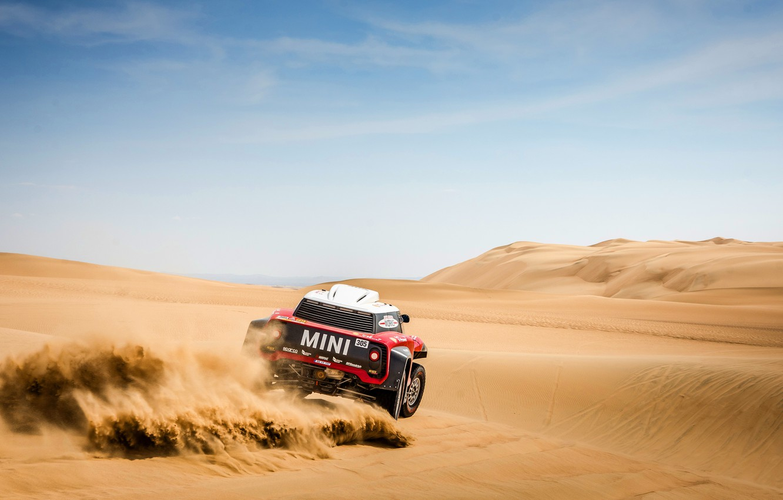 Photo wallpaper The sky, Sand, Mini, Sport, Desert, Rally, Dakar, Dakar, Rally, Mini, Dune, Buggy, Buggy, X-Raid …