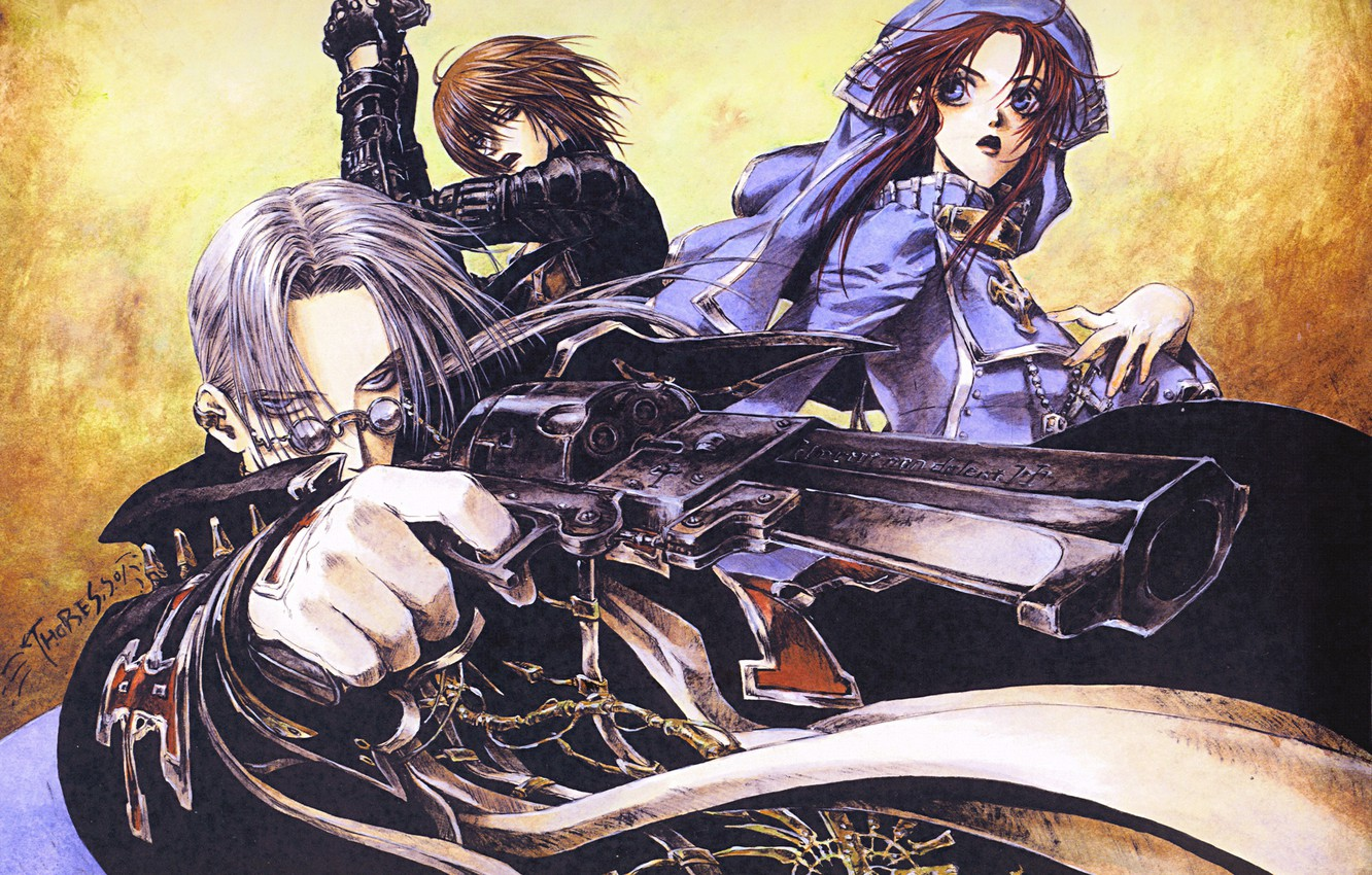 Wallpaper Gun Cross Gloves Trinity Blood Nun Art Abel
