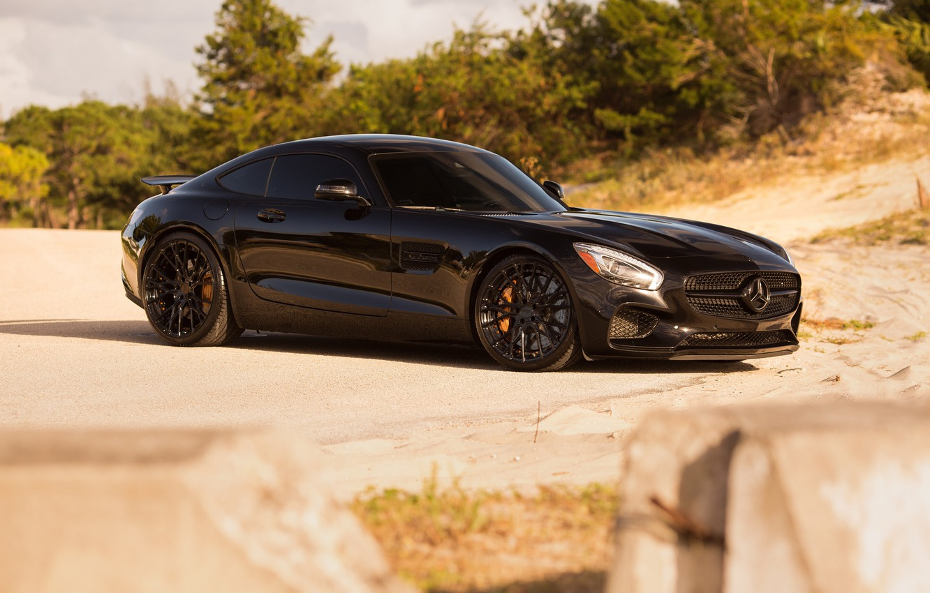 Photo wallpaper Mercedes, GTS, Wheels, Niche