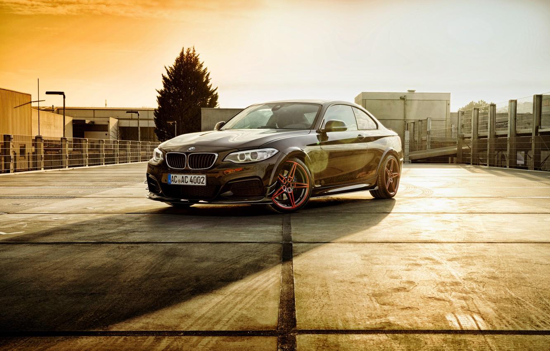 Photo wallpaper BMW, F22, Black, Coupe, 2-Series
