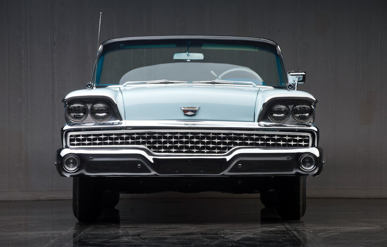 Photo wallpaper convertible, retro, 1959, Ford Galaxie Skyliner