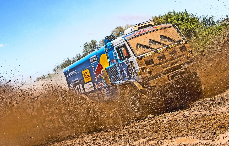 Photo wallpaper Auto, Sport, Truck, Master, Dirt, Squirt, Kamaz, Rally, Dakar, Dakar, Rally, KAMAZ, Master
