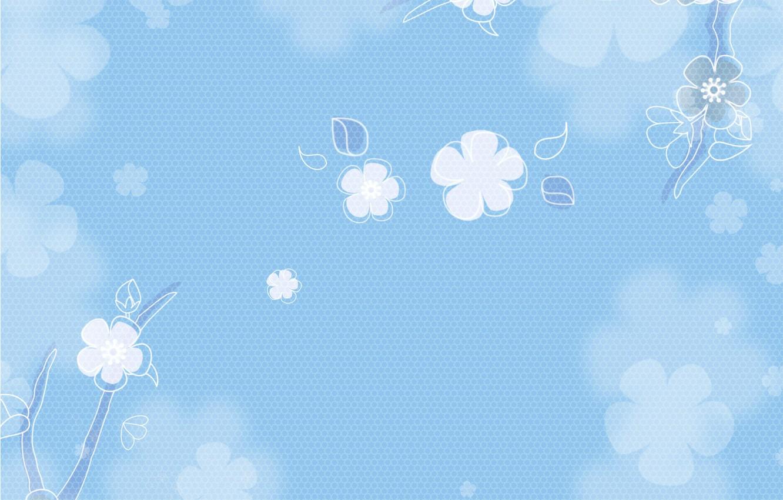 Wallpaper Flowers Background Texture Vintage Blue