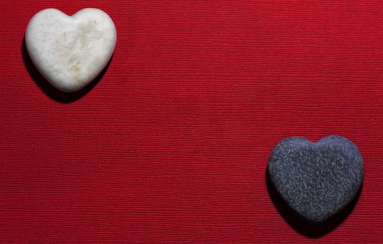 Photo wallpaper red, stones, heart