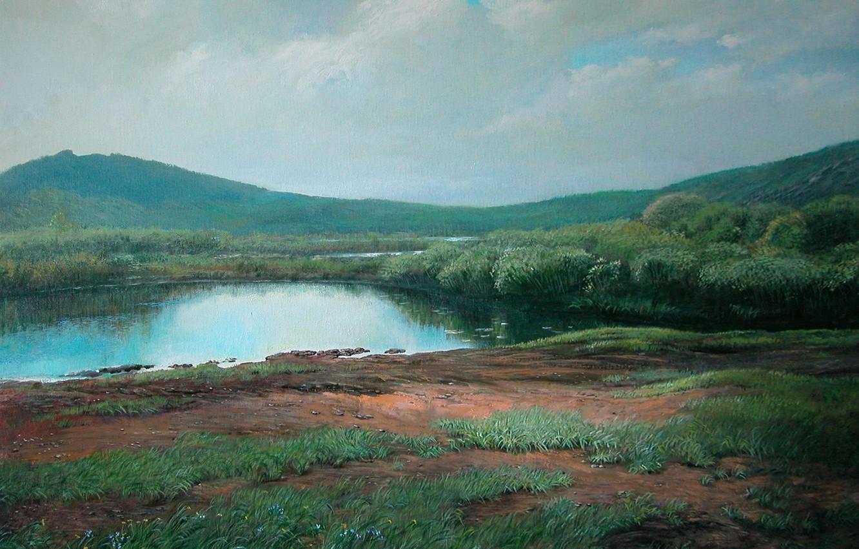 Photo wallpaper landscape, Summer, 2008, Karkaralinsk, Aibek Begalin
