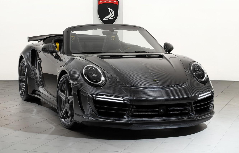 Photo wallpaper 911, Porsche, GTR, Turbo, 2018, Cabriolet, Ball Wed, Carbon Edition, Stinger