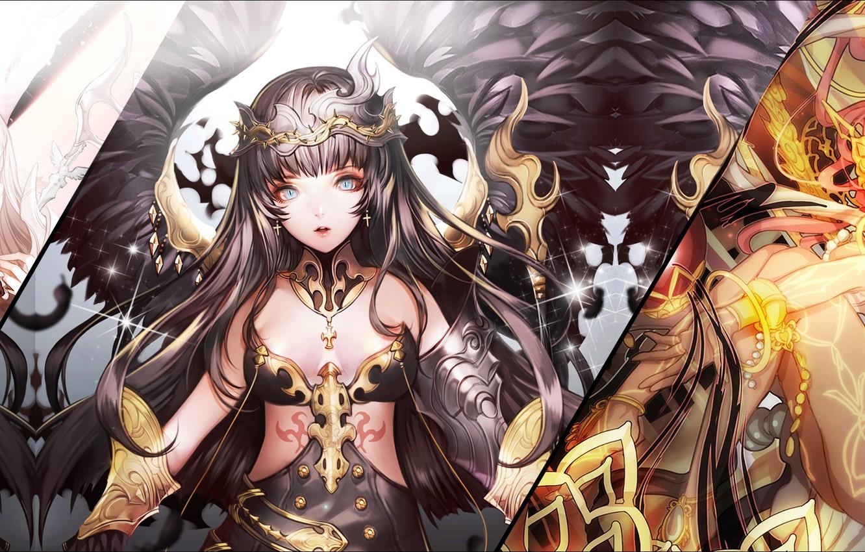 Photo wallpaper girls, anime, details, armors