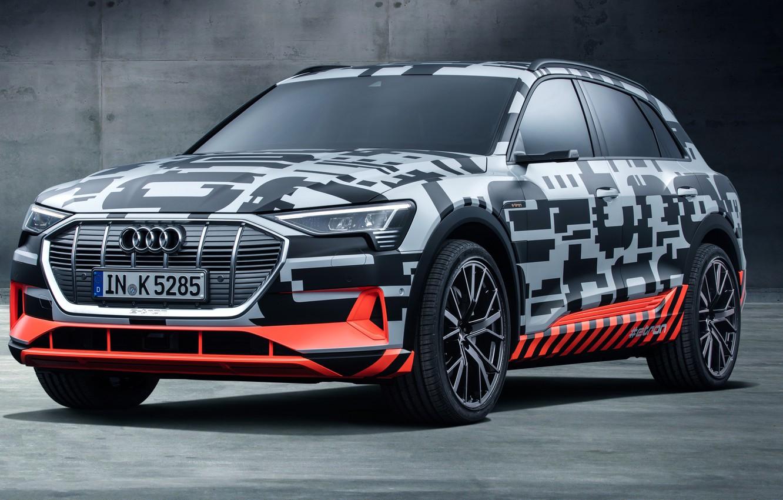 Photo wallpaper Audi, Prototype, 2018, electric, E-Tron